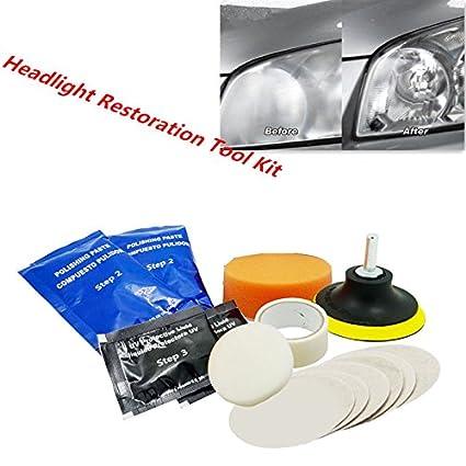 Amazon Com Fidgetfidget Car Headlight Lens Restoration Kit Auto