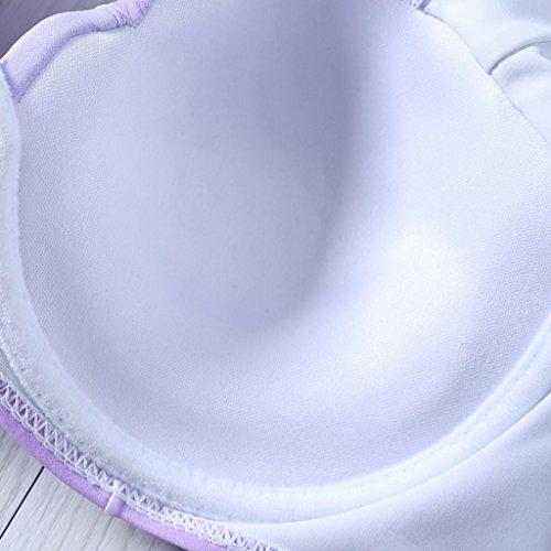 SWIWA Damen Farbverlauf Shell Motive Bikini Set Gepolsterte Meerjungfrau Badeanzug(Asian Size)