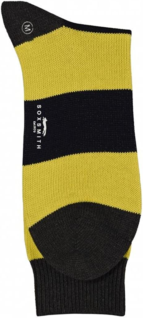 Soxsmith Best Quality Heavy Gauge Soft Cotton Thick Stripe Mens Socks
