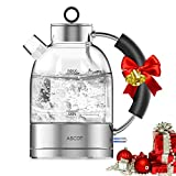 Best Glass Electric Kettles - Ascot KE1003 Glass Electric Kettle, 1.6 L, Clear Review