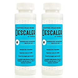 2 Pack of Descaler / Descaling Solution for Keurig, Nespresso, and Other Coffee/Espresso Machines - Made in USA - 2 Uses Per Bottle from Impresa Products