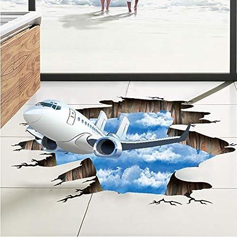 KDGJG Azul Cielo Nubes Aviones Pegatinas De Pared para Niños ...