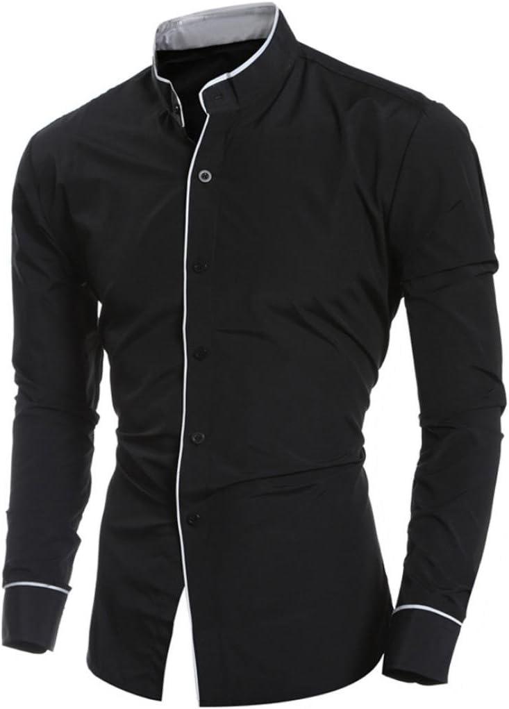 Camisas hombre Hombres cómodos transpirable camisa de manga larga párrafo de otoño,YanHoo® impresa Slim Fit manga larga informal botón camisas formales blusa Moda popular (Negro, 2XL): Amazon.es: Iluminación