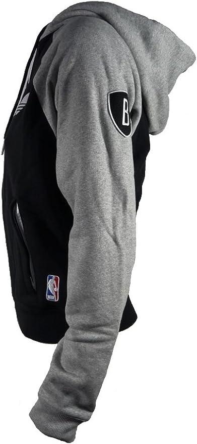 Adidas veste brooklyn nets nBA new veste de sport à capuche pour femme