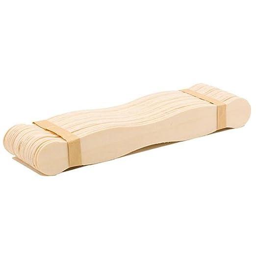 b46a99b508ad9 Chytaii 50pcs Palito de Helado Juego de Palos Manualidades para DIY Palitos  de Helado de Madera Natural Popsicle helado casero Craft de Madera Forma ...