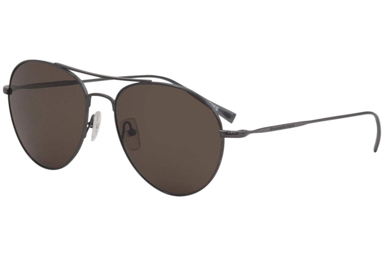 da217eec8d73 Amazon.com  Sunglasses Ermenegildo Zegna EZ 33 EZ0033 08J shiny gumetal    roviex  Clothing