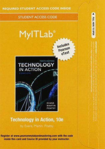 MyLab IT with Pearson eText -- Access Card -- for Technology In Action, Complete