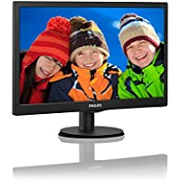 Philips V-line 203V5LSB2 19.5 WLED LCD Monitor - 16:9-5 ms - 1600 x 900-16.7 Million Colors - 200 Nit - 10,000,000:1 - HD+ - VGA - 14.52 W - Textured Black, Black Hairline - EPEAT Silver, WE