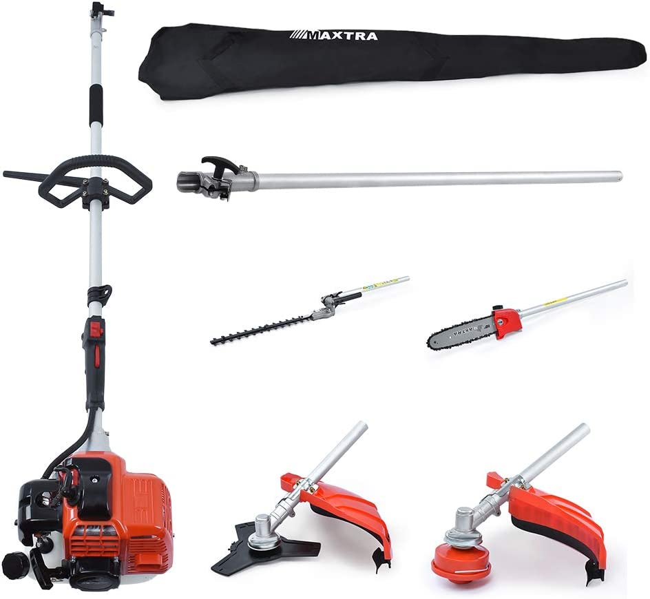 MAXTRA Reach to 16Feet Gas Pole Saw for Tree Trimming