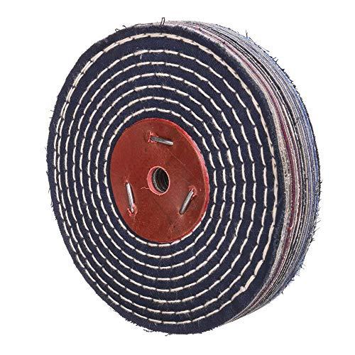 """Extra Thick (1 inch) Spiral Sewn denim Buffing Polishing Wheel 6 inch For Bench grinder With 1/2"""" Arbor Hole 1 PACK"""
