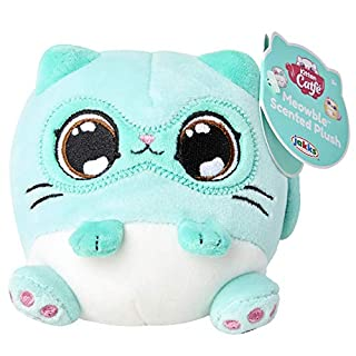 """Kitten Catfé Meowble Super Soft Scented Plush - Mint Siamese Cat - """"Meowberry Scented"""" (Strawberry) 4"""" Round Kitten Ball Plush, for Birthday Party Or Easter!"""