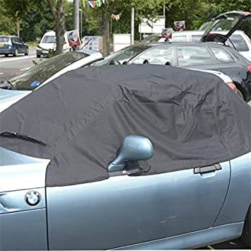 UK Custom Covers RP100 Tailored Soft Top Roof Half Cover  Black