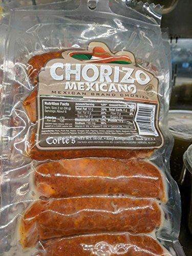 Cortes Chorizo Mexicano Sausage 14 Oz (4 Pack)