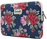 Canvaslife Flower Patten Laptop Sleeve 13 Inch Macbook Air 13 Case Macbook Pro 13 Sleeve and 13.3 Inch Laptop Bag