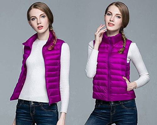 Down Mujer Chaleco Windproof Pluma Chaquetas Puffer de Coat Ake Ultra Purple Light qOndwXYt