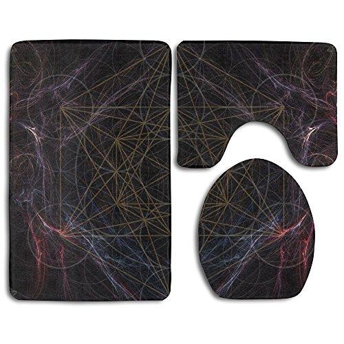 HOMESTORES Magic Smoking Sacred Geometry Skidproof Toilet Seat U Shape Cover Bath Mat Lid Cover For Bathroom