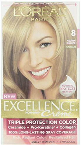 L'Oreal Excellence #8.0 Medium Blonde Hair Color, 1 ct -  71249210697