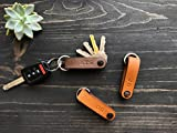 Compact Leather Key Holder, Switch Blade Style, Holds Up to 6 Keys, Full Grain Leather, Minimalistic Design