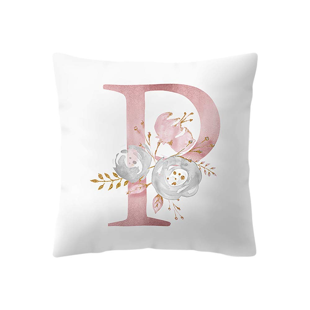 "Hivot 18""x18"" Throw Pillow Covers Brief Gifts Cotton Linen Home Decor Square Cushion Cover Pillowcases"
