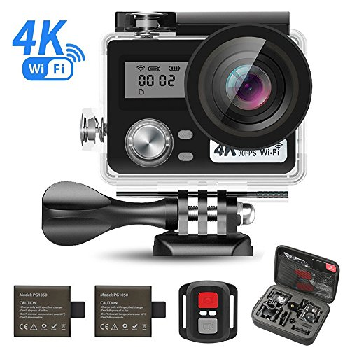 【Valentine's Day】Sport Camera, J-DEAL WiFi Action Waterproof Camera, 170 Degree Wide Angle Lens, Dual Screen, 2 Rechargeable Battery, Outdoor Accessories Kits Digital Video Camera + hand carry kit - Day Shopping Online Gift Valentine