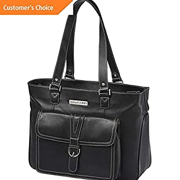 Model LGGG Sandover Clark Mayfield Stafford Pro Leather Laptop Tote 15.6 Womens Business Bag NEW 7541