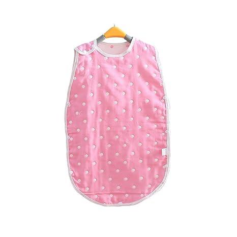 Saco de dormir para bebé – Manta con estampado de lunares, unisex, color rosa