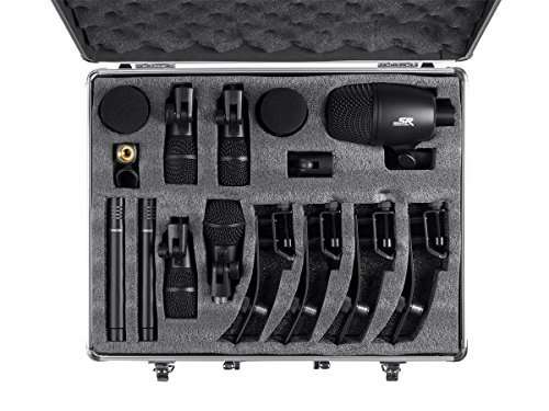 Monoprice 7-piece Drum and Instrument Mic Kit   With Mounts and Case, balanced XLR connections - Stage Right Series ()