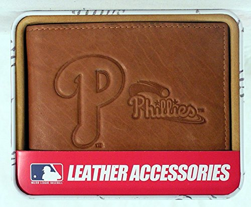 (Rico Philadelphia Phillies Embossed Leather Billfold Wallet)