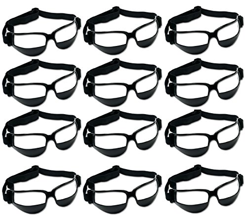 Unique Sports 12 Pack Dribble Specs Basketball Training Aid, Black, One Size Fits All