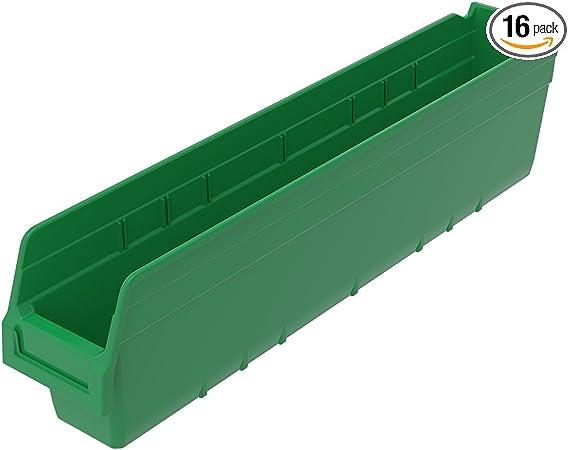 Akro-Mils 30080 ShelfMax Plastic Nesting Shelf Bin Box 12-Inch L by 8-Inch W by