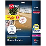 "Avery 5294 High Visibility 2.5"" Round Labels with"