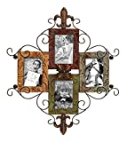 Bellaa 27598 Big Metal Wall Photo Frame Collage, 24'' x 21''