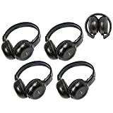 Kyпить Four Pack of Two Channel Folding Adjustable Universal Rear Entertainment System Infrared Headphones With Four Additional 48