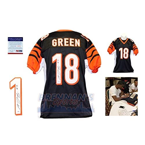 promo code 08363 89f37 real aj green autographed jersey d875b 42dbe