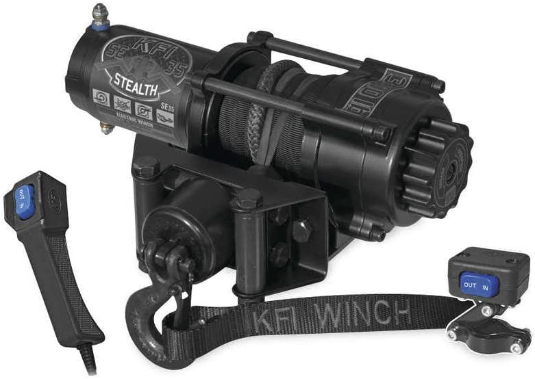New KFI 3500 lb Stealth Edition Winch /& Model Specific Mounting Bracket 2005-2010 Polaris Sportsman 800 ATV