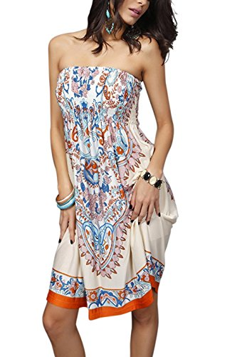 Casual Colore Swimwear Beach Mujer Shoulder 13 Dress senza Cocktail Boho Chic Party Landove Pareo Para spalline Summer wxnUxZ