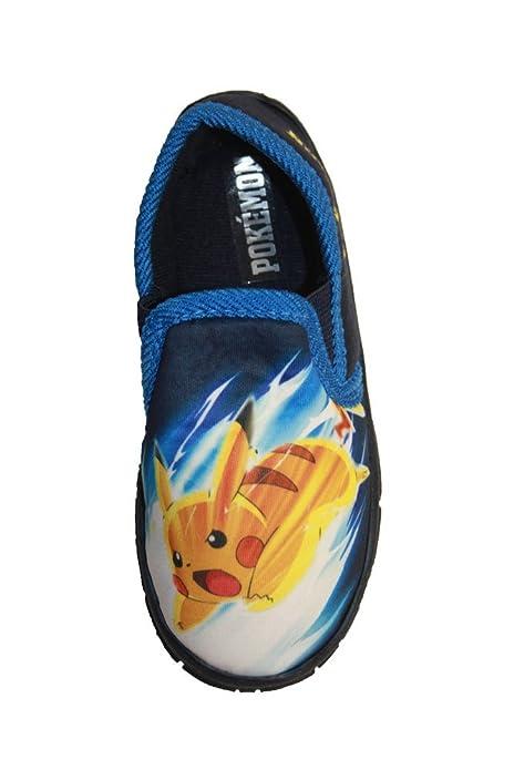 Pokemon - Zapatillas de estar Por casa Para Niño, Color Azul, Talla ...