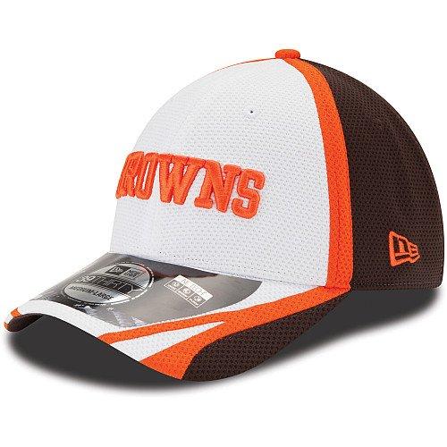 世代センブランス解釈Cleveland Browns New Era 39thirty 2014公式トレーニングフレックスフィット帽子 – ホワイト