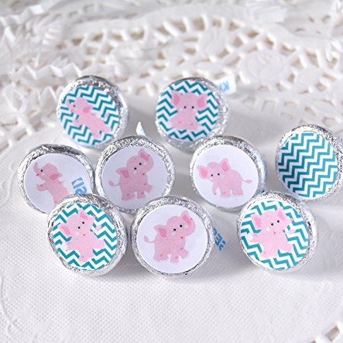 Amazon 324 Teal And Pink Elephant Candy Labels Elephant Baby