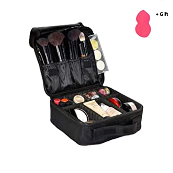 Travel Case Adjustable Makeup Bag With Diy Removable Dividers