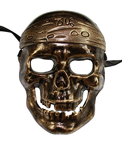 Pirate Skull Mask (KAYSO INC Lost At Sea Pirate Full Face Skull Mask (Vintage Gold))
