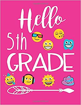 hello 5th grade school composition notebooks dartan creations