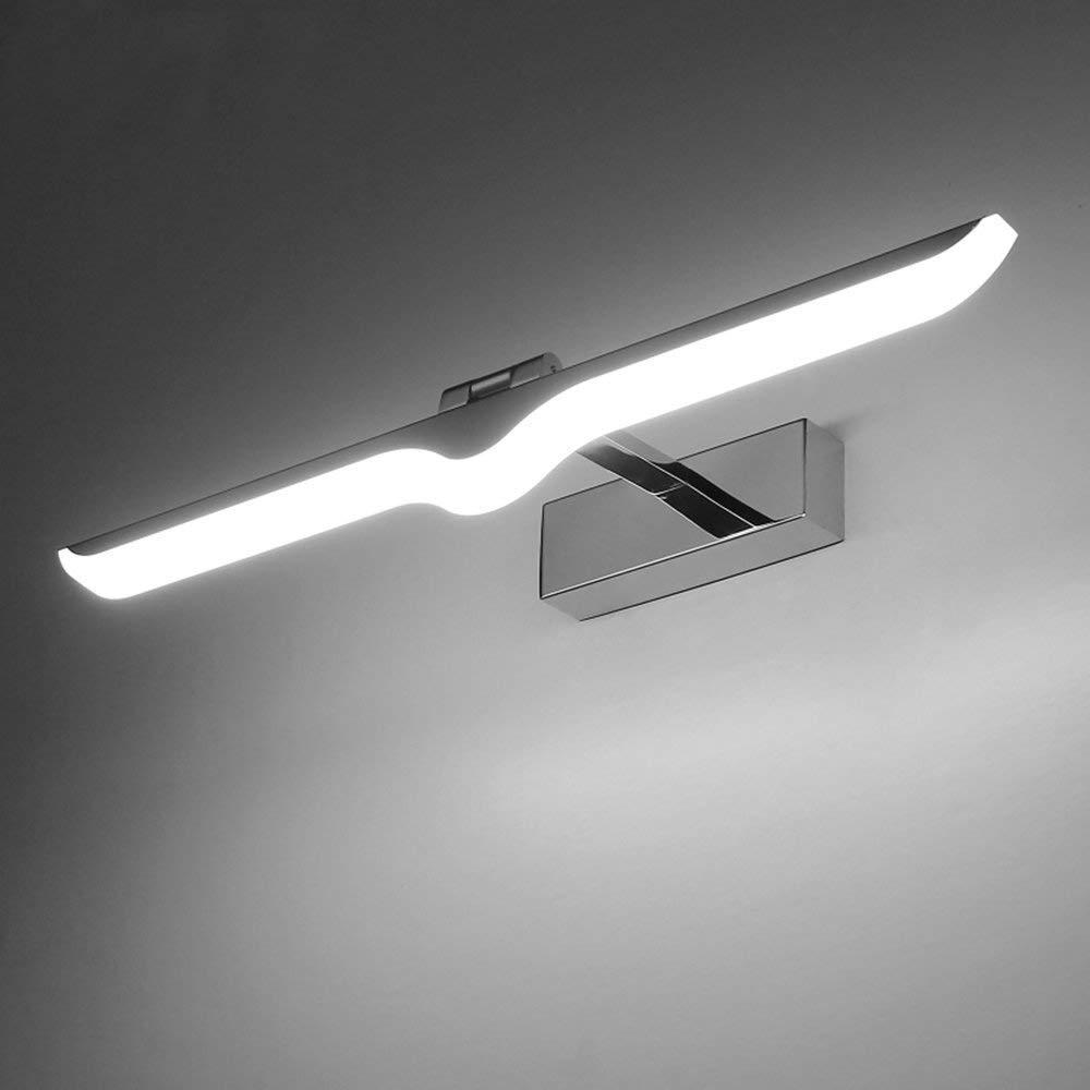 Mirror Lamps Home Bad Lampe Edelstahl LED Wasserdichte Kabinett Licht Bad Anti-Fog Wandbehang Spiegel Scheinwerfer Bad Lampe (Farbe   42  14cm(9w) Weiß Light)