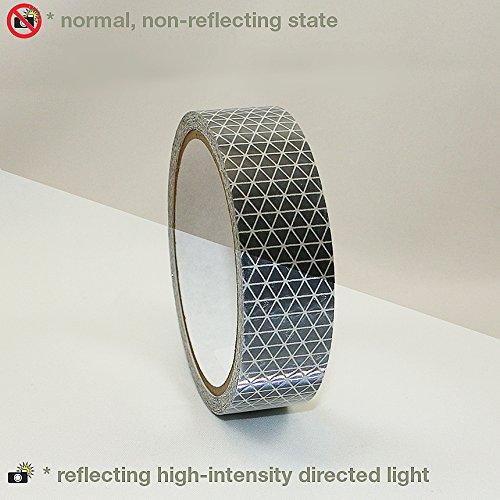 Reflexite REF-DB Retroreflective V92 Daybright Tape: 1 in. x 15 ft. (Silver-White) by Reflexite by Reflexite