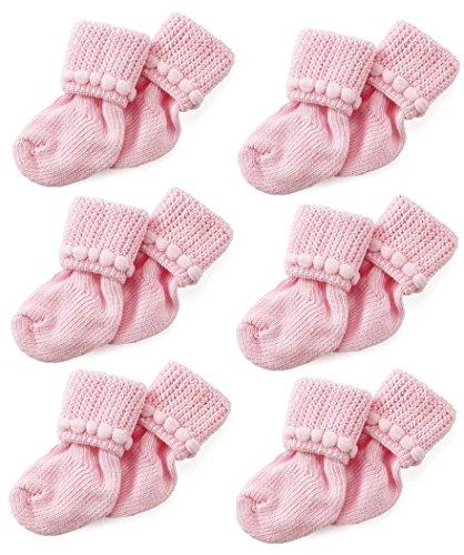 Pink Newborn Baby Socks By Nurses Choice - Includes