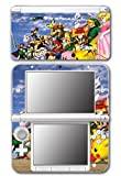 Super Smash Bros Melee Brawl Link Zelda Peach Dr Mario Ice Climbers Mewtwo Bowser Luigi Samus Video Game Vinyl Decal Skin Sticker Cover for Original Nintendo 3DS XL System
