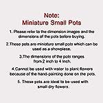 ExclusiveLane Warli Hand-Painted Living Room & Home Decorative Miniature Small Terracotta Pots Showpiece Set (7.6 cm x 7…