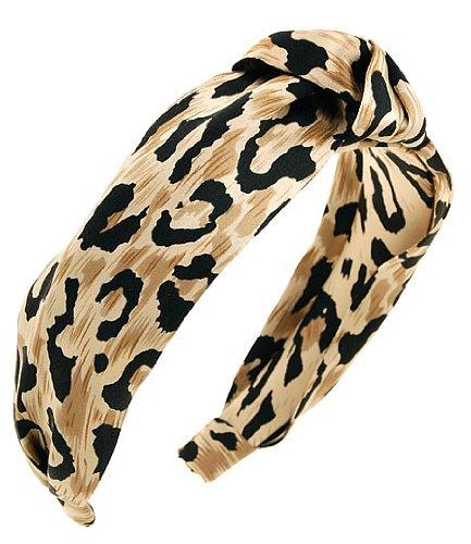 (L. Erickson USA Narrow Knot Turban Headband - Kenyan Leopard )