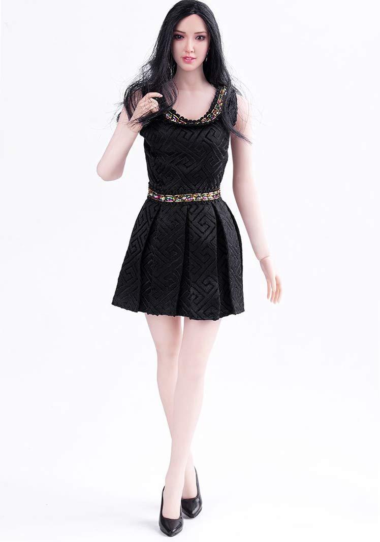 For 1 / 6 scale female figures, this stylish black mini skirt dress [GMOEM-102]