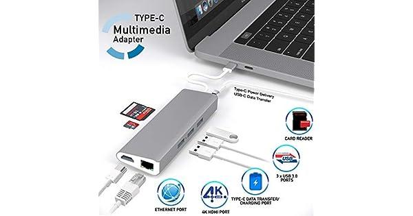 aTTo digital USB C Hub Adapter, 8 in 1 Multiport Dongle w/ 4K HDMI